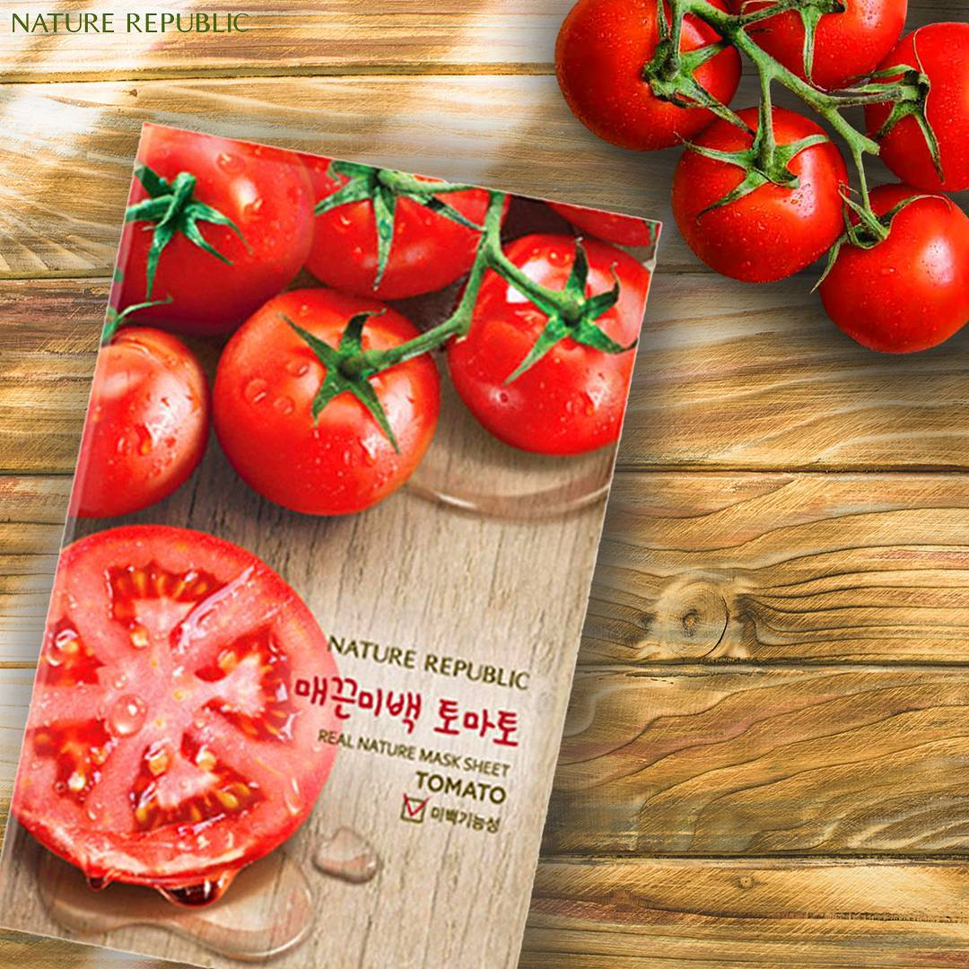 Naturalorganik Shop Line Masker Nature Republic Sheet Mask Tomato Asli 100 Original Korea