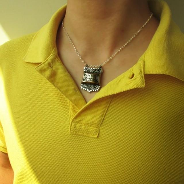 Mittag NL335シールドネックレス_シールドネックレス925純銀製の限定デザイナー手
