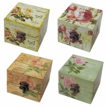 ル・タンブル キャンバストールボックス (S) 小物ケース 小物入れ 木製 ふた付き 小物収納 おしゃれ アンティーク アクセサリーケース