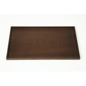 お盆 トレー 木製 30cm 黒檀調 長手盆 長盆 運び盆 日本製 漆器