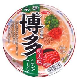 ★まとめ買い★ サンヨー食品 旅麺 博多明太味トンコツラーメン 75g ×12個【イージャパンモール】
