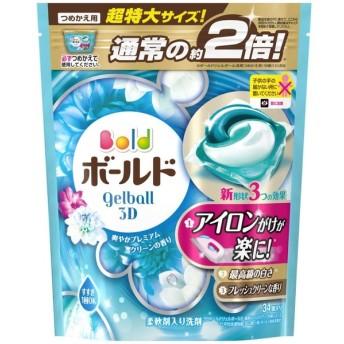 P&G・ジャパン P&G ボールド ジェルボール3D 爽やかプレミアムクリーンの香り 詰替え 超特大サイズ