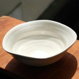 今野春雄 白磁鉢 約16cm