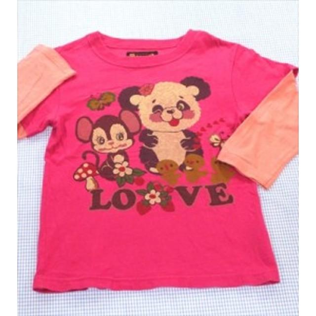 96a90b7aecaba グラグラ GRAND GROUND 7分袖Tシャツ ロンt 130cm ピンク系 女の子 キッズ ジュニア