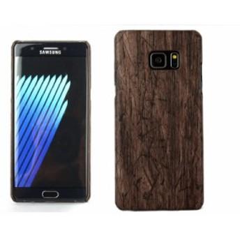Samsung Galaxy Note 7 用 合成革 材質風 保護防塵 ケース カバー #木目調 送料込