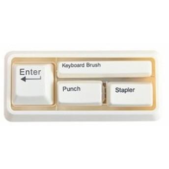 文房具3点セット キーボード型 ユニーク (ホワイト)