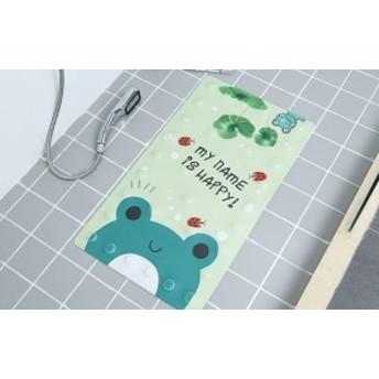 お風呂マット 洗い場 吸盤付き アニメ風 (カエル)