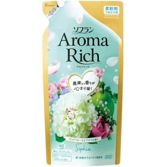 【T】 ソフラン アロマリッチ ソフィア ピュアフローラルアロマの香り つめかえ用 (430ml) アロマの柔軟剤