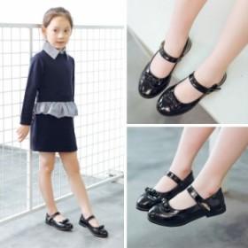 a9383cf6f8620 フォーマル靴(女の子用) リボン ダンスシューズ キッズ フォーマルシューズ 子供靴 ローファー 子供