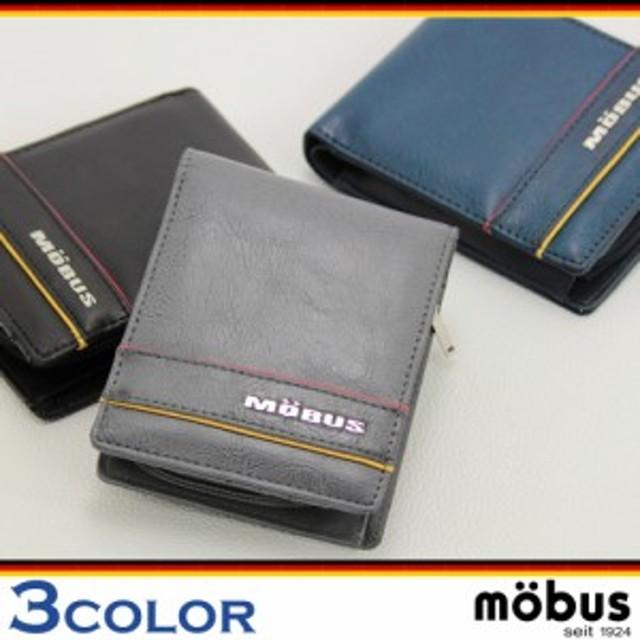199d52388231 財布 mobus モーブス メンズ MOS-309 合皮2つ折り財布 レディース ロゴ 小銭入れ