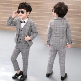 フォーマルスーツ 男の子 子供スーツ 3点セット キッズスーツ ジュニアスーツ タキシード 男の子 入学・入園・卒業・卒園・七五