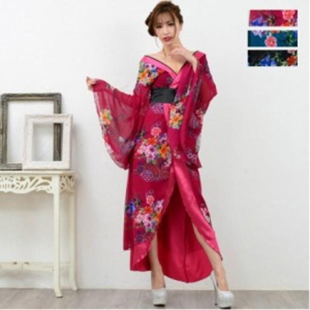 着物 ドレス 花魁 コスプレ よさこい 衣装 Jewel ジュエル 花魁ドレス 着物ドレス 和柄 セクシー