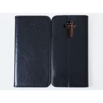 Huawei Mate 9用 PU合成革 カード収納 横開きタイプ スタンドケース#ブラック【新品/送料込み】