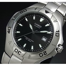 fccecd2205 CASIO/Standard【カシオ/スタンダード】メンズ腕時計 ブラック文字盤 メタルベルト【