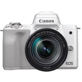 《新品》 Canon (キヤノン) EOS Kiss M EF-M18-150 IS STM レンズキット ホワイト【¥5,000-キャッシュバック対象商品】
