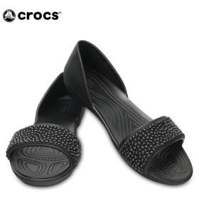 クロックス crocs サンダル レディース リナ エンベリッシュド ドルセー ウィメン 204361 od
