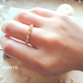 Half Eternity Square Ring