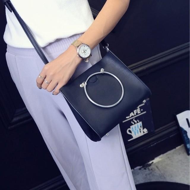 tas kulit pegangan lingkaran set handbags hand diagonal package bta117: Rp 79.400