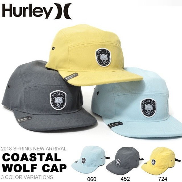 73b9af421bf00 キャップ HURLEY ハーレー メンズ ロゴ 帽子 COASTAL WOLF CAP サーフ スケートボード ベースボールキャップ 40