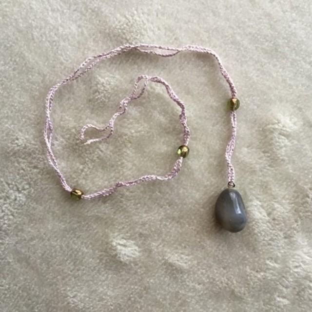 トルコのお土産 天然石ネックレス 1 ローズピンク