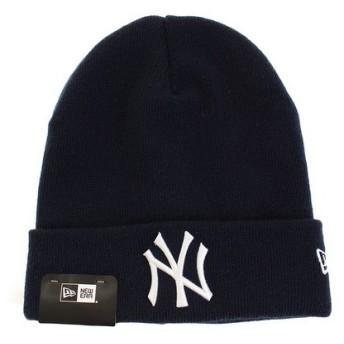 ニューエラ(NEW ERA) NEYYAN NVY/WHT CUFF ニット帽 11521986 (Men's)