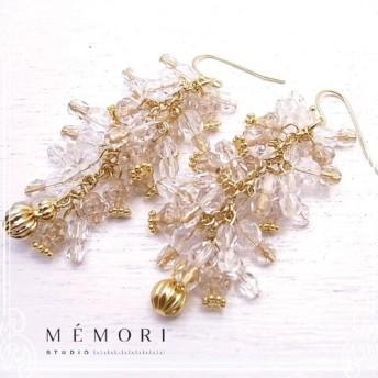 MEMORI STUDIO Icicle hung pierced earring de-86-me-06