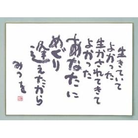 相田みつを 色紙 F4サイズ 生きていてよかった 900A328