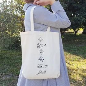 Xの枝豆、当社の海洋魚の袋 大容量環境に優しいキャンバスバッグ/トートバッグ/バッグ