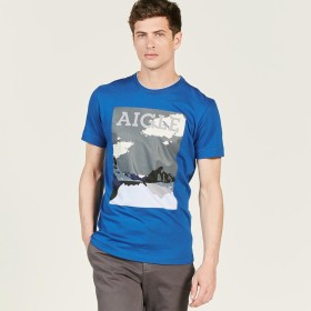 AIGLE メンズ メンズ ハイクTシャツ ZTHG751 ROYAL (003) Tシャツ