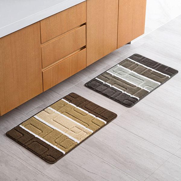 時尚創意地墊188 廚房浴室衛生間臥室床邊門廳 吸水長條防滑地毯(40*60cm 1件裝)