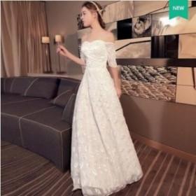 ロングドレス 刺繍 演奏会 結婚式 フォーマル 花嫁 パーティードレス 音楽会 カラードレス 二次会 ドレス 花嫁