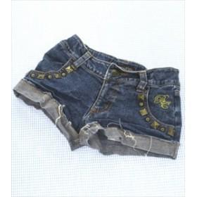 バナナチップス BANANA CHIPS デニム ショートパンツ 半ズボン 130cm 紺系 女の子 キッズ