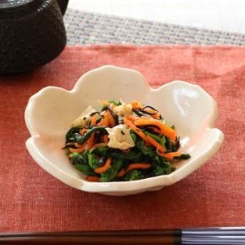 花型皿 和食器 赤吹き志野 変形皿シリーズ 美濃焼 日本製 磁器 ( 食器 皿 和皿 食洗機対応 和風 電子レンジ対応 おしゃれ 花型 和