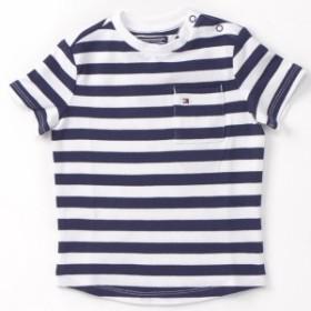 トミーヒルフィガー(キッズ)(TOMMY)/ストライプレギュラーフィットTシャツ