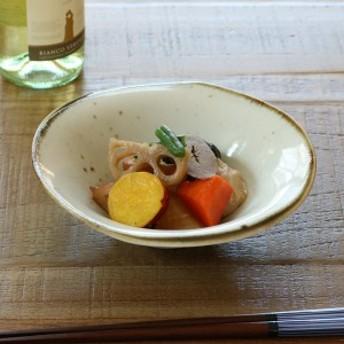 たわみ丸鉢 和食器 錆粉引 変形皿シリーズ 美濃焼 日本製 磁器 ( 食器 皿 和皿 食洗機対応 和風 電子レンジ対応 おしゃれ 和モダ