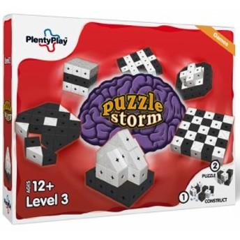 Plenty Play プレンティプレイ パズルストーム レベル3 ~北欧デンマークのコネクターでつないで組み立てる面白いブロックの鍛脳(たんの