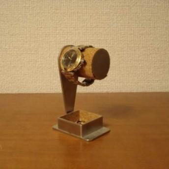 ウォッチスタンド 1本掛けデザイントレイ付き腕時計スタンド ak-design
