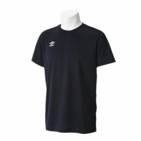 アンブロ(UMBRO) ワンポイントCネックシャツ UCS7554 BKWH XO