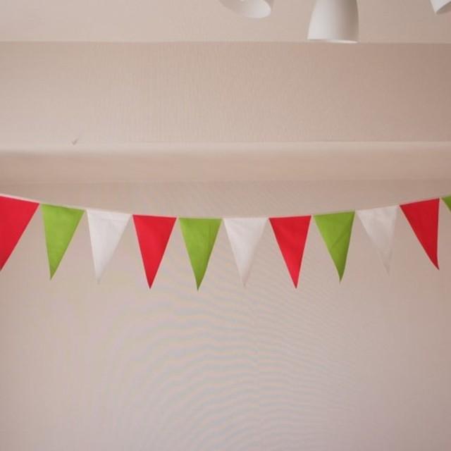 布ガーランド 290cm フラッグ 旗 結婚式 誕生日 パーティー キャンプ 飾り スプリング