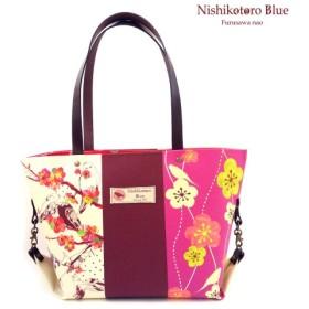【受注制作】*5分で完売大人気バッグ! 梅の花とインコ達のバッグ *