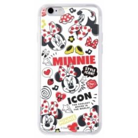 iPhone6s iPhone6 ケース  ミニーマウス ディズニー キャラクター / TPUケース + 背面パネル カバー アイフォン ミニー