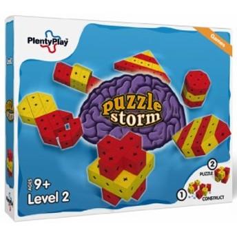 Plenty Play プレンティプレイ パズルストーム レベル2 ~北欧デンマークのコネクターでつないで組み立てる面白いブロックの鍛脳(たんの