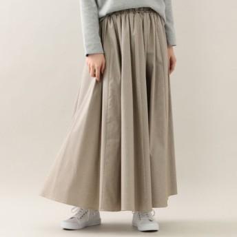 SALE【エムピー ストア(MP STORE)】 ギャザーロングスカート キャメル