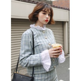 Love in TOKYO ツイードクロップドジャケット・全2色・e49086