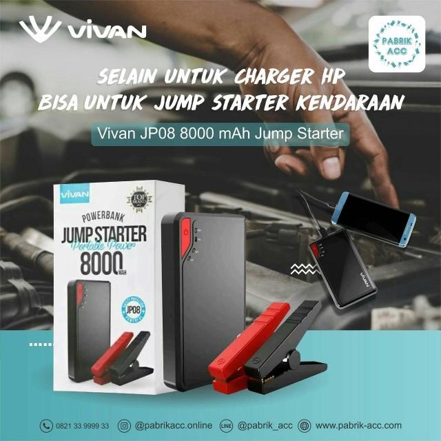 Vivan powerbank jp08 8000 mah jum starer: Rp 650.000 Rp 612.000