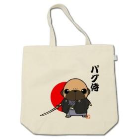 パグ侍(フォーン) コットントートバッグ