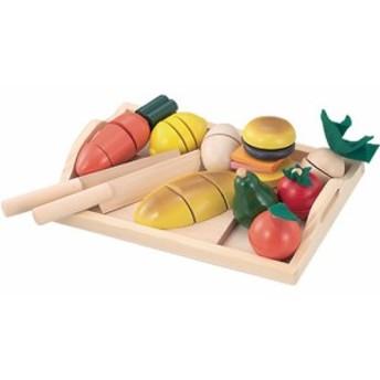 Ed.inter エドインター ままごといっぱいセット ~エドインターの木製おままごとセットです。大きめお野菜だから、小さい子でも持ちやす