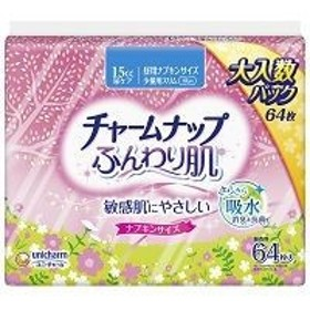 チャームナップ ふんわり肌少量用 64枚/ チャームナップ 尿もれ用シート・パッド (毎)