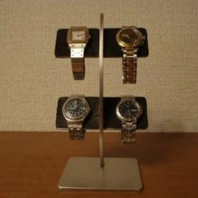 時計スタンド ブラックコルク4本掛け腕時計スタンド スタンダード