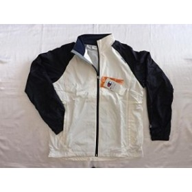 a959b52f5809c Champion(チャンピオン) ウィンドジャケット Lサイズ ホワイト×ネイビー CLJ4600-WN